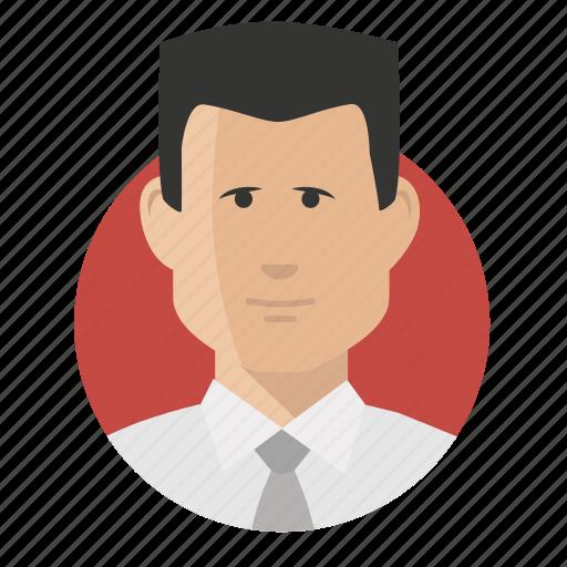 avatar, businessman, caucasian icon