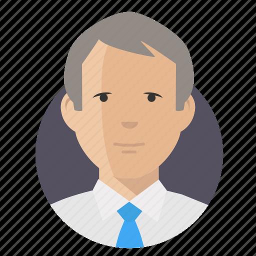 avatar, businessman, old icon