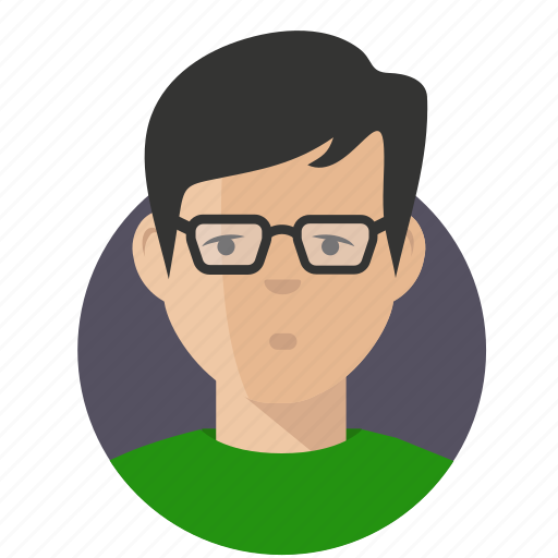 avatar, businessman, geek icon