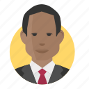 african, avatar, businessman icon
