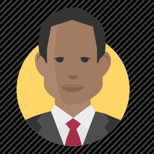 african, avatar, businessman icon