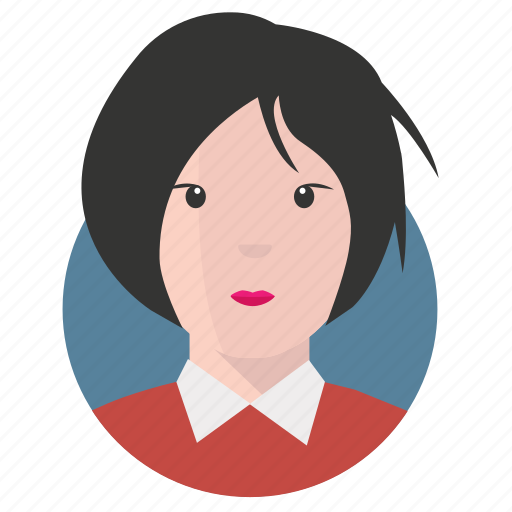 asian, avatar, businesswoman icon