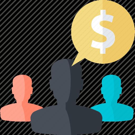affiliate, finance, flat design, internet, marketing, money, people icon