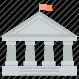 bank, finance, flat design, money, transfer, wire icon