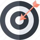 business, goals, strategy, target icon