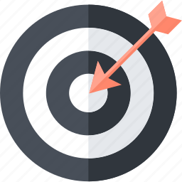 business, flat design, goals, strategy, target icon