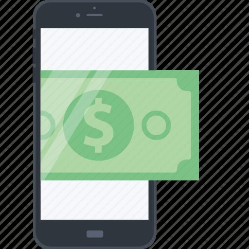 banking, e-banking, flat design, internet, m-banking, mobile, money icon