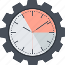 business, clock, dead line, efficiency, flat design, time icon