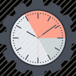 business, clock, dead line, efficiency, flat design, time icon