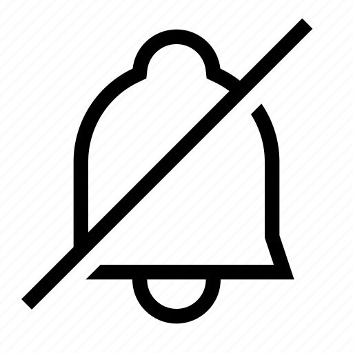 bell, notification, off, silent, unsubscribe icon