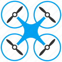 air drones, airdrone, copter, flying drone, nanocopter, quadcopter, radio control uav icon