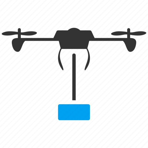 airdrone, copter, delivery, flying drone, nanocopter, quadcopter, shipment icon