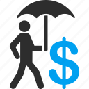 care, financial, financial insurance, protection, safety, security, umbrella icon