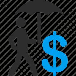 care, financial, financial insurance, protection, safety, security, umbrella icon