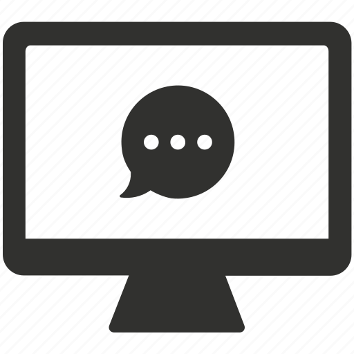 chat, communication, online, talk icon