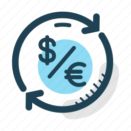 conversion, currency, dollar, euro, exchange, money, transfer icon
