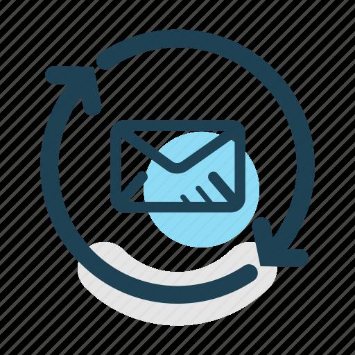 communication, conversation, email, message, receive, send, synchronization icon