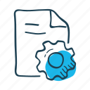 development, document, gear, optimization, planning, project, settings icon