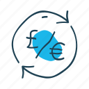conversion, currency, euro, exchange, money, pound, transfer icon