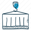 business, cargo, container, crane, logistics, shipping, storage icon