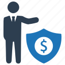 business, insurance, protection, security icon
