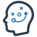 head, planning, strategy icon