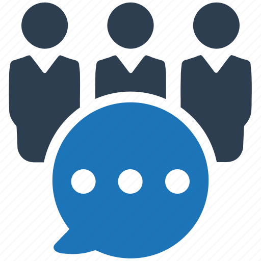 group discussion, group talking, meeting icon