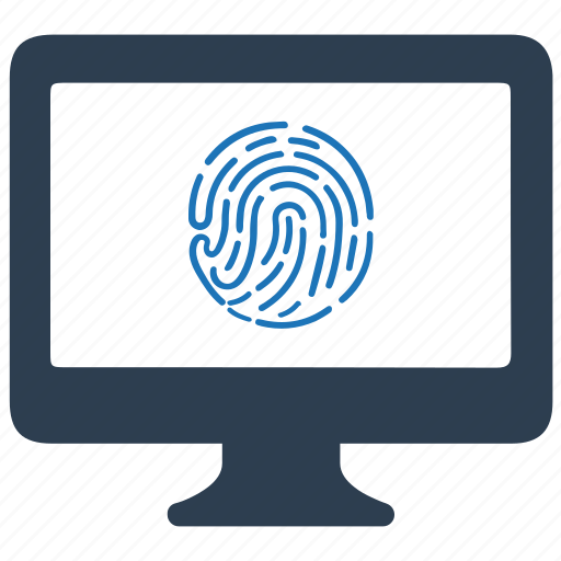 cyber, fingerprint, protection, security icon