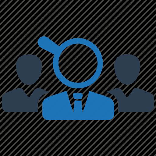 recruitment, target audience, target market, target user icon