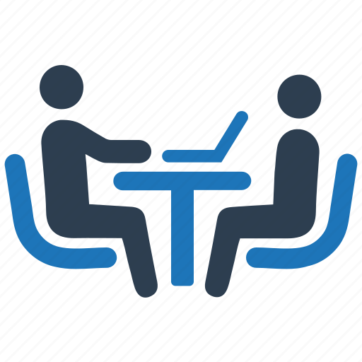 business meeting, job interview, recruitment icon