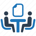 business contract, meeting, negotiation icon