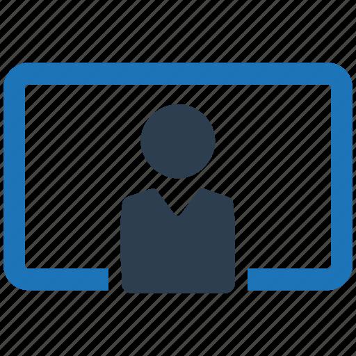 classroom, presentation, teaching, training icon