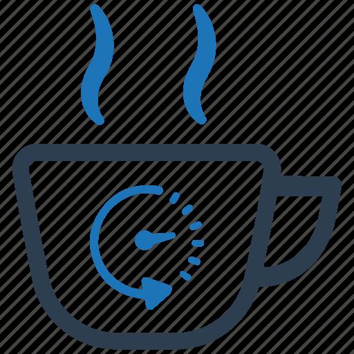 break time, refreshment, tea break, tea time icon