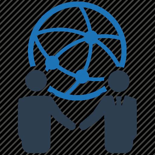 business, communication, global business, partnership icon