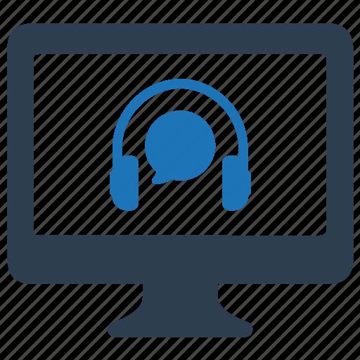 customer service, customer support, online icon