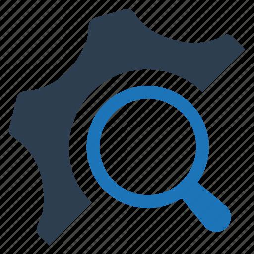 Gear, seo, optimization, search engine icon