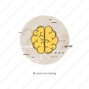 brain, brainstorming, creative thinking, creativity, idea, innovation, research icon