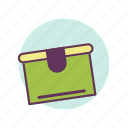 box, delivery, mail, package icon