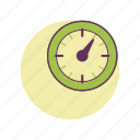 clock, free time, hour, lunch time, work icon