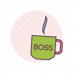 boss, business, coffee, coffee break, cup, work icon
