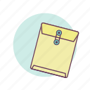 business, envelope, mail, papers, work icon