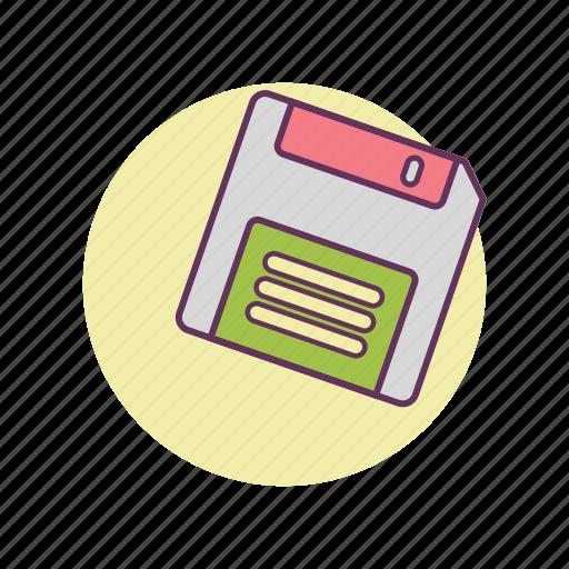 floppy, information, old school, storage, vintage, work icon