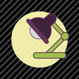 desktop, lamp, light, source, study, work icon