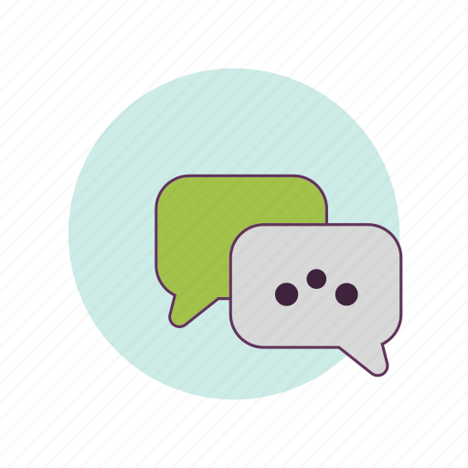 connecting, message, people, talking, text, work icon