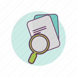 business, contract, files, papers, searching, work icon