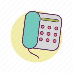 business, call, landline, phone, work icon