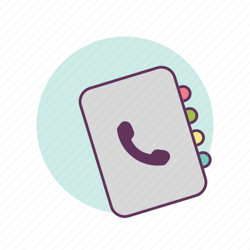book, business, contacts, friends, names, phone, phone numbers icon