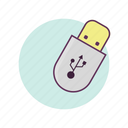 business, data, files, storage, usb, work icon