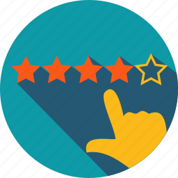 business, feedback, rate, star icon