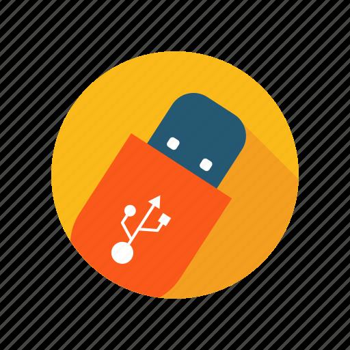 data, drive, files, flash, memory, stick, usb icon